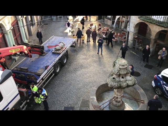 Indignación general en Lugo por el ataque a la fuente de San Vicente