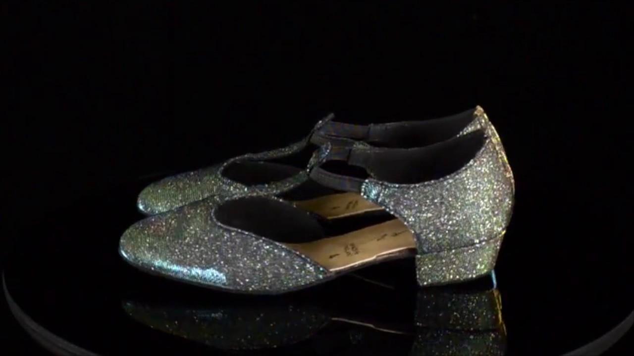 Ladies Gold Sparkly Glitter Dance Greek Sandal Line Dance Salsa Shoes By Katz