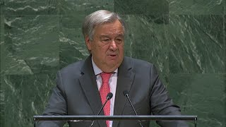 UN chief warns of risk of great global #39fracture#39