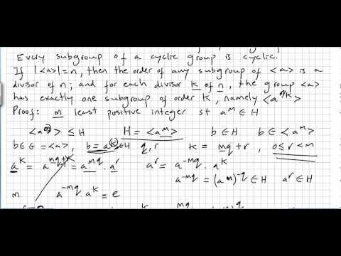 Group Theory 17, Fundamental Theorem of Cyclic Groups