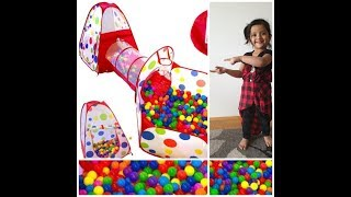 Indoor outdoor crawl tunnel ball pit | Balloons