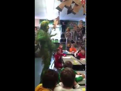 Grinch the Musical   Grinch visits 2nd graders in Orchard Park, NY