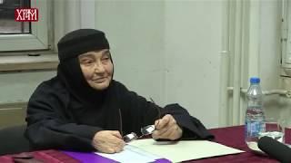 Мати Макарија - Предавање на Ликовној академији СПЦ