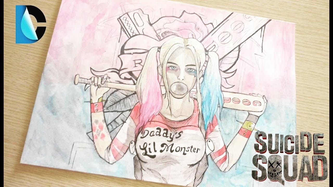 """Drawing""-como Dibujar A Harley Quinn/Margot Robbie"