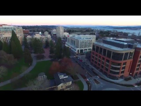 Vancouver, WA. Downtown | January, 2016 | Phantom 3 PRO 4K view