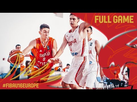 Croatia v Serbia - Full Game - FIBA U16 European Championship 2017