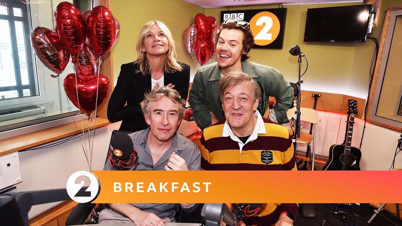 Harry Styles & Stephen Fry pause for thought on Radio 2 Breakfast