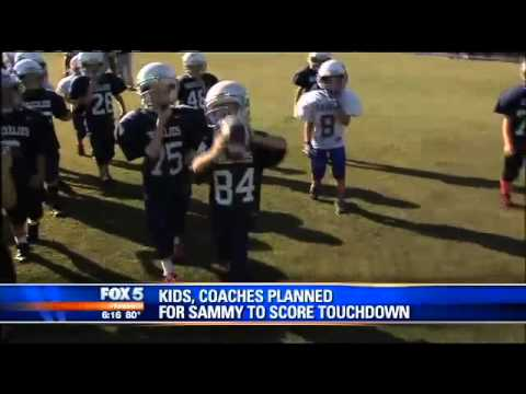 Team Helps 8-year-old with Down Syndrome Score Touchdown - Sammy Grugan - Georgia