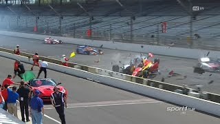 Huge Start Crash 2014 IndyCar Grand Prix of Indianapolis