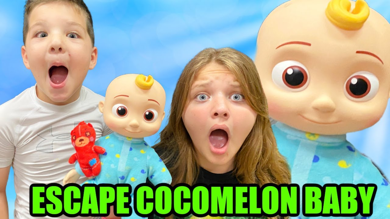 COCOMELON BABY IN OUR HOUSE!! Can AUBREY & CALEB Escape THE CRAZY DOLL?