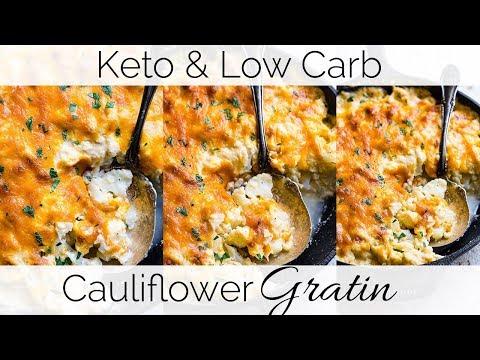 Low Carb Keto Cauliflower Gratin