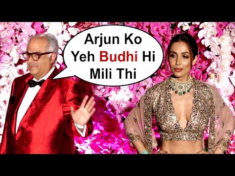 Boney Kapoor Ignores Arjun Kapoor Girlfriend Malaika Arora Khan At Akash Ambani Wedding Party
