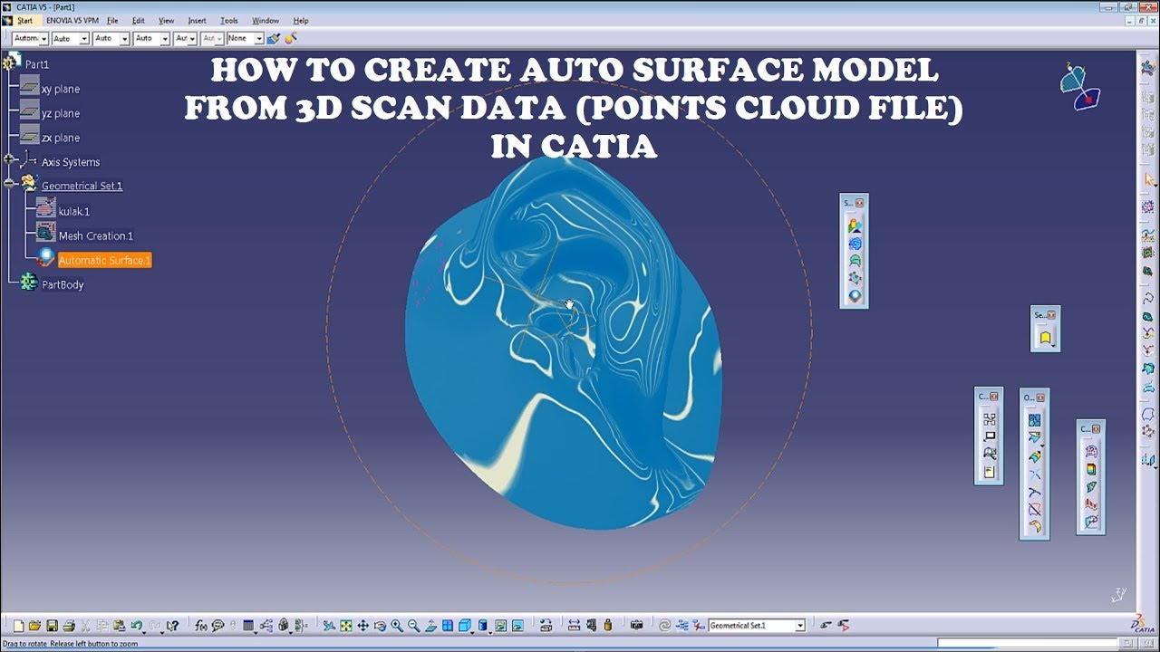 How to Create Auto Surface Model From ASC (Point Cloud) File in CATIA V5