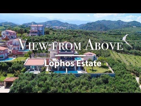 Lophos Estate  | View From Above | Villas in Crete, Greece
