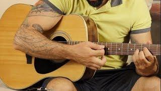 Belki Üstümüzden Bir Kuş Geçer ORJİNAL Nasıl Çalınır? - Akor TAB Gitar Dersi