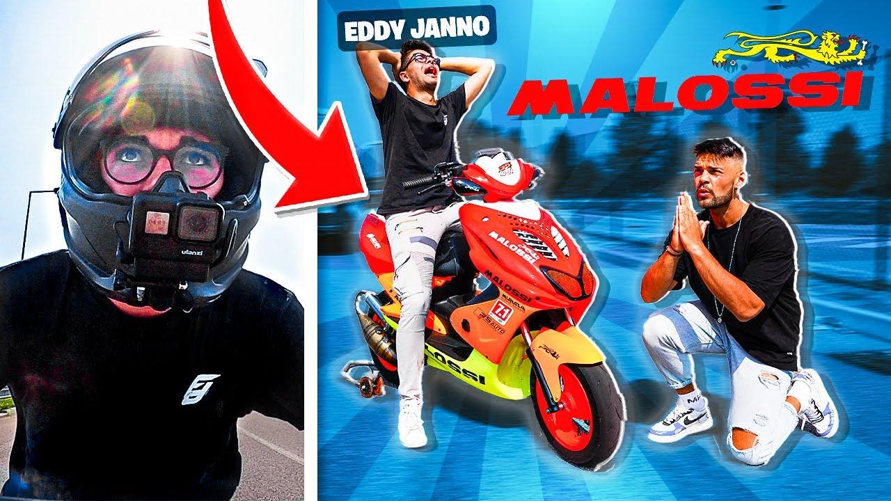 LA REAZIONE DI EDDY JANNO ALL'AEROX MALOSSI 94cc 🔥 ( scioccato😱)