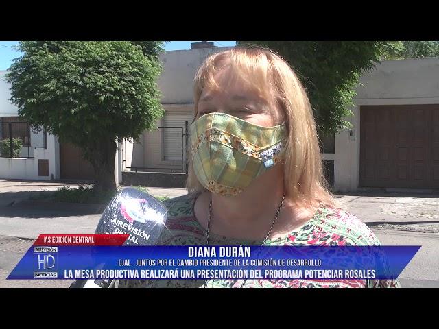 Cjal Diana Durán Balance de la Com de Desarrollo, Mesa productiva