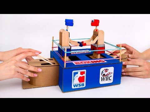 Un Juego De Boxeo De Cartón Super Divertido 🥊