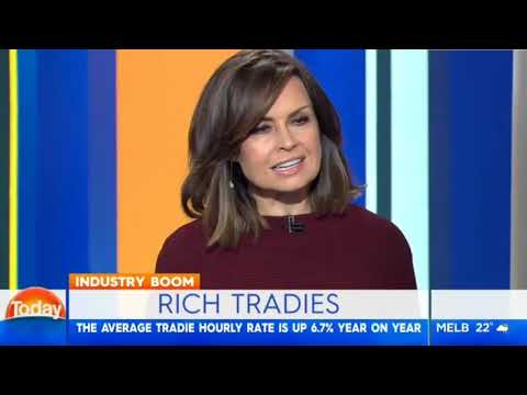 Today Channel 9 Interview ServiceSeeking Tradie Rich List 2017
