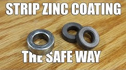 Remove Zinc Coating From Metal - The Safe and Easy Way