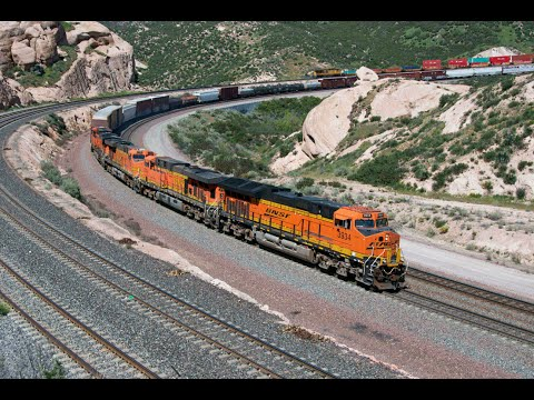 BNSF and Union Pacific Trains on Cajon Pass
