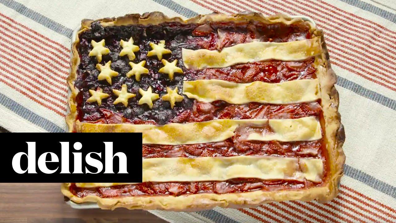 american flag pie delish youtube