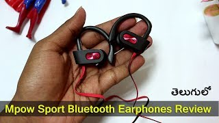 Mpow Sport Bluetooth Earphones Review || in Telugu