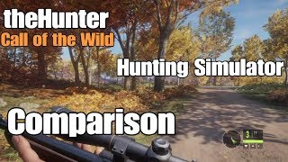 comparison - theHunter Call of the Wild vs Hunting Simulator