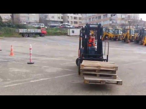 M.E.B iş makinaları forklift operatörlük sınavı