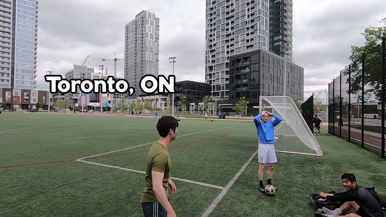 외국사는 한국인들은 슈팅을 잘할까? 토론토 리젠트 파크 슈팅연습
