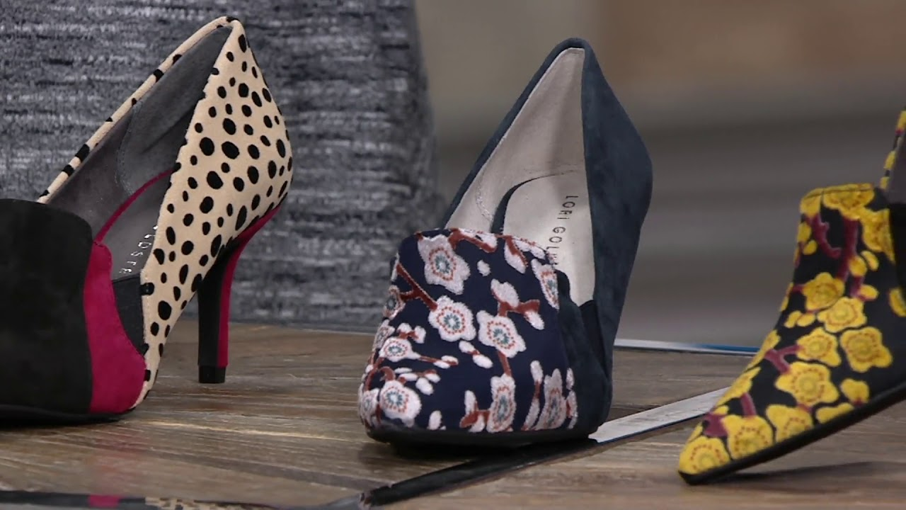 Lori Goldstein Collection Novelty Pumps With Goring Detail On Qvc