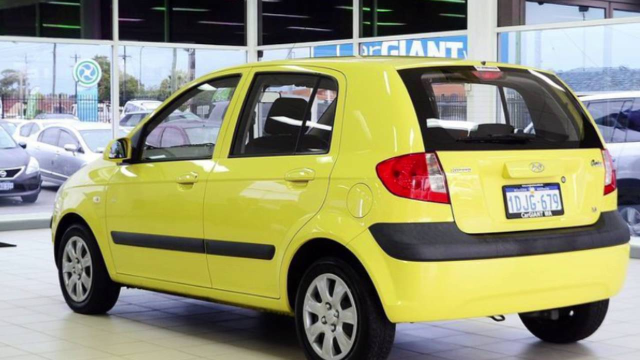 2010 Hyundai Getz TB MY09 SX Yellow 4 Sd Automatic Hatchback ...