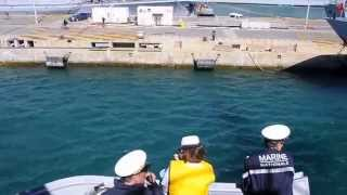 Dernière sortie en mer de la frégate DUPLEIX
