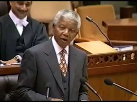 Nelson Mandela - Last Speech in SA parliament