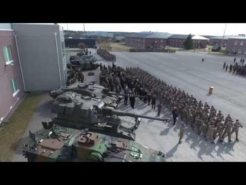 NATO; Estonia Ceremony marks Deployment of UK troops