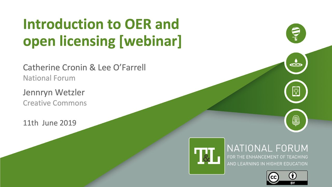 An Introduction To Open Educational Resources Oer Open Licensing Youtube