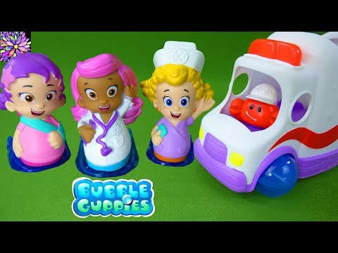 Bubble Guppies Doctor Molly Nurse Deema Clambulance Hospital Playset Oona Gil Bubble Puppy Girl Toys