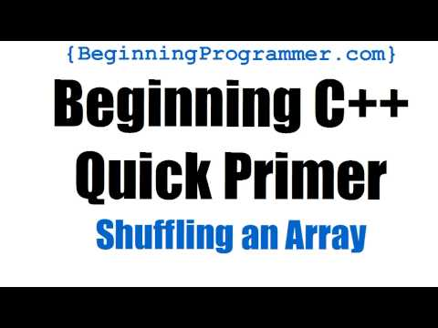 C++ Primer - Shuffling an Array - YouTube