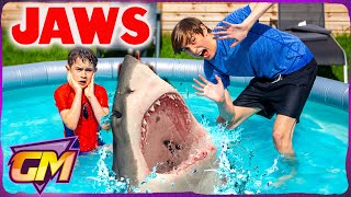 Jaws Parody - Scary Shark Attacks Kids!