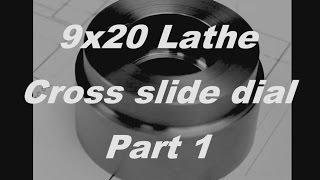 9x20 cross slide dial Part 1 - 250x550 Drehbank Skalenring f. Planschlitten Teil 1