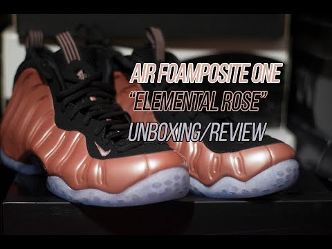 """Air Foamposite One """"Elemental Rose"""": Unboxing and Review"""