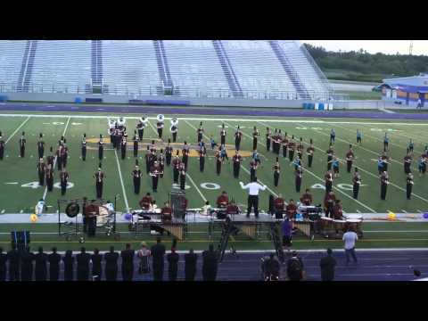 Donna High School Mighty Marching Redskin Band at Pigskin Competition 2014