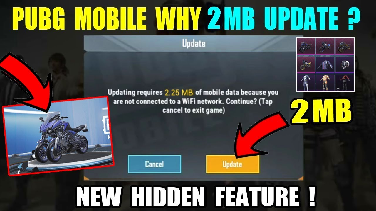 PUBG MOBILE WHY NEW 2MB UPDATE TODAY ? NEW YAMAHA MWT-9 CRATE OPENING IN PUBG MOBILE