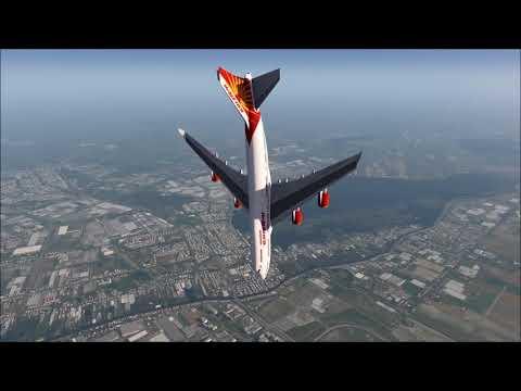 AIRINDIA 747-400 Crash near Amsterdam Airport!