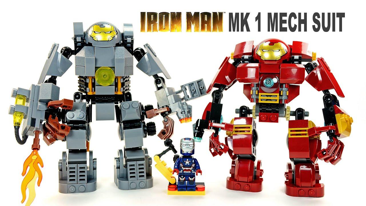 LEGO Iron Man MK1 vs Hulkbuster KnockOff Mech Suit Set w ...
