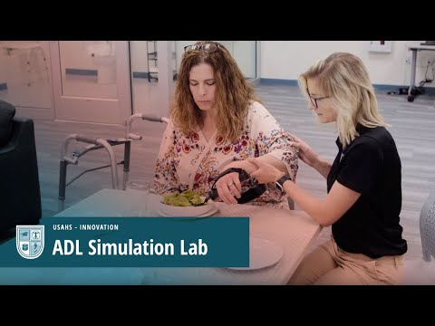 OT Students Practice ADL Skills with Mock Patients in Simulated Home Video