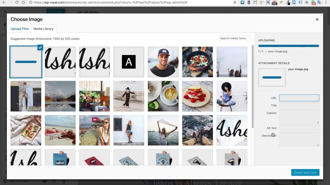 How to setup Page Header & Body Background Images in the Ashe Free  Wordpress Theme