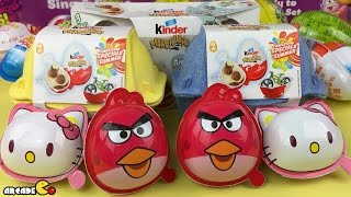 New Kinder Surprise Eggs Special Girl Edition Angry Birds Surprise Eggs - Hello Kitty Surprise Eggs