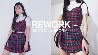 REWORK YOUR SCHOOL UNIFORM into a skirt, a dress & a matching set | THATTOMMYGIRL