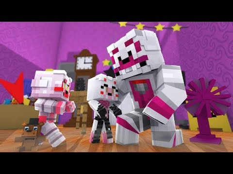 Funtime Foxy Meets His Children! (Minecraft Fnaf Daycare)